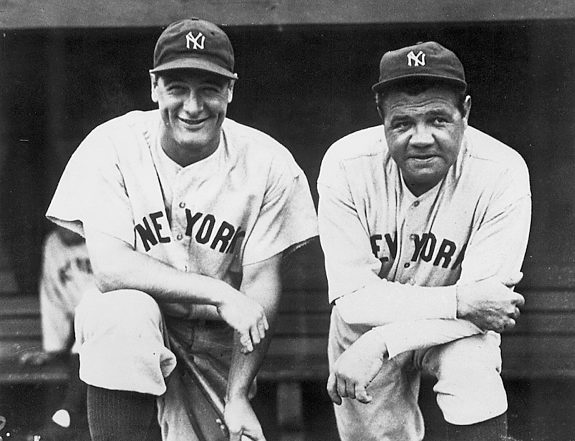 New York Yankees Lou Gehrig and Babe Ruth - 1932. Baseball.