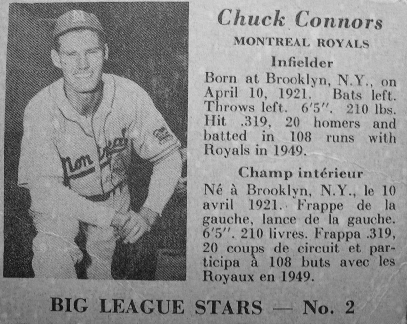 Big League Gum Card--Connors--1950