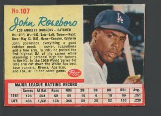 1962-Post-Baseball-Card-107-John-Roseboro-Los-Angeles